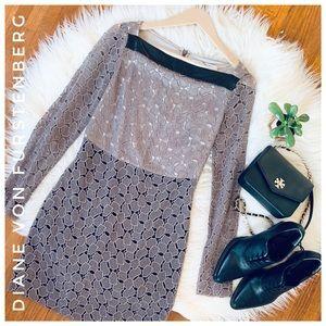 🌿 DIANE VON FURSTENBERG new Sarita pebbled Lace